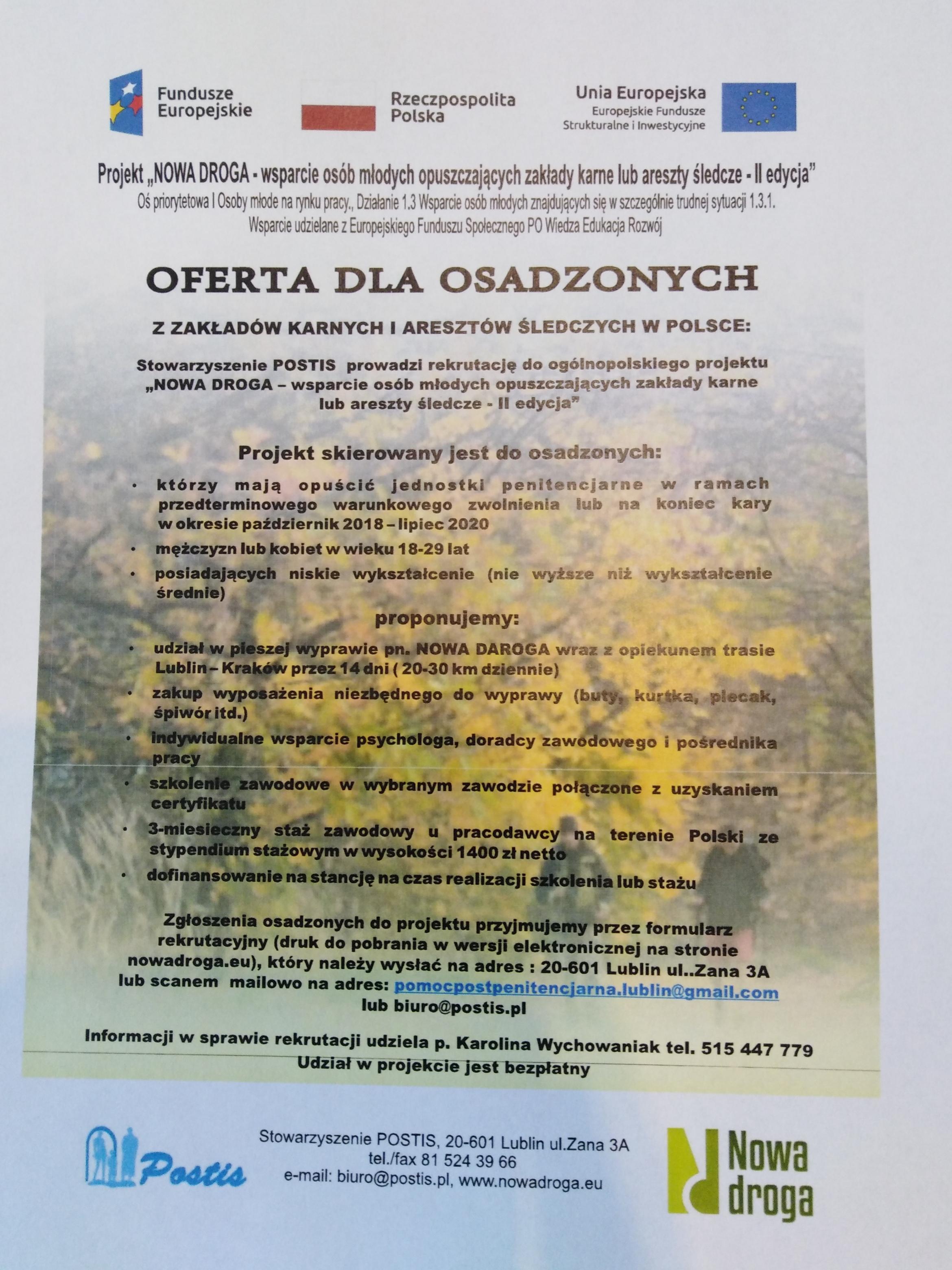 Ulotka Nowa Droga II edycja